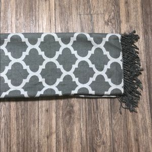 CHIC gray and white throw by Threshold